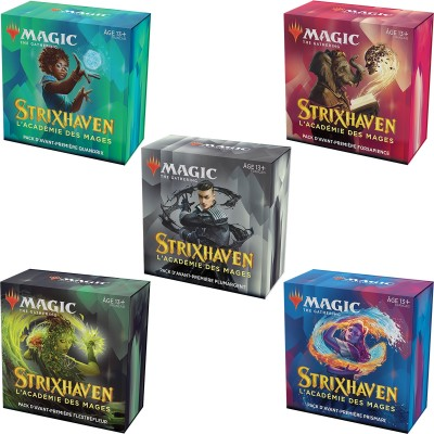 Booster Magic the Gathering Strixhaven : l'Académie des Mages - Pack d'Avant Première (Lot de 5)
