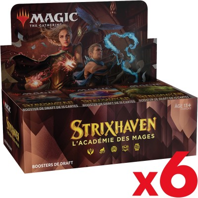 Boite de Boosters Magic the Gathering Strixhaven : l'Académie des Mages - 36 Boosters de draft - Lot de 6