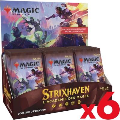 Boite de Boosters Magic the Gathering Strixhaven : l'Académie des Mages - 30 Boosters d'Extension - Lot de 6