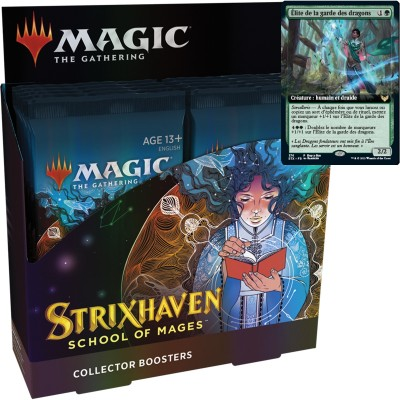 Boite de Boosters Magic the Gathering Strixhaven: School of Mages - 12 Collector Boosters + Carte Buy a Box