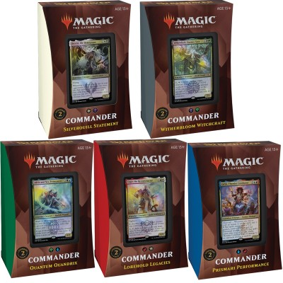 Deck Magic the Gathering Strixhaven: School of Mages - Commander - Lot de 5 différents