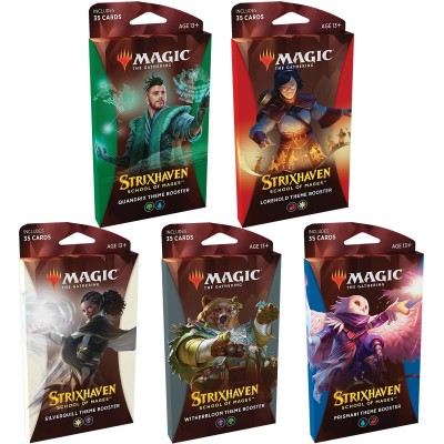 Booster Magic the Gathering Strixhaven School of Mages - Theme Boosters - Lot de 5