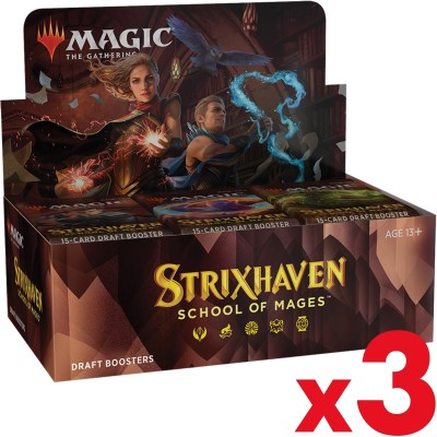 Boite de Boosters Magic the Gathering Strixhaven School of Mages - 36 Draft Boosters - Lot de 3