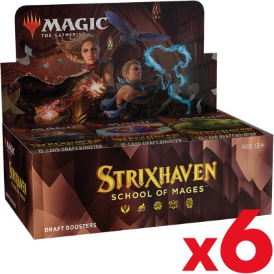 Boite de Boosters Magic the Gathering Strixhaven School of Mages - 36 Draft Boosters - Lot de 6