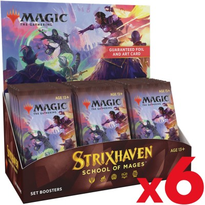 Boite de Boosters Magic the Gathering Strixhaven School of Mages - 30 Set Boosters - Lot de 6