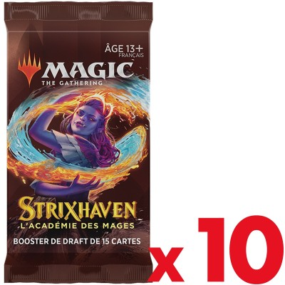 Booster Magic the Gathering Strixhaven : l'Académie des Mages - Booster de draft - Lot de 10