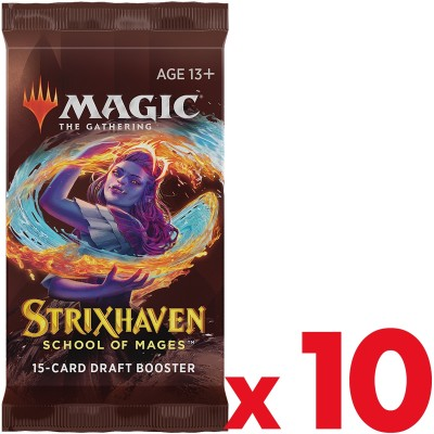 Booster Magic the Gathering Strixhaven School of Mages - Draft Booster - Lot de 10