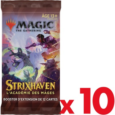 Booster Magic the Gathering Strixhaven : l'Académie des Mages - Booster d'Extension - Lot de 10