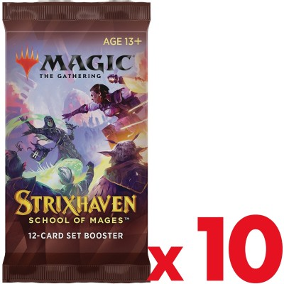 Booster Magic the Gathering Strixhaven School of Mages - Set Booster - Lot de 10