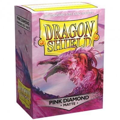 Protèges Cartes  100 pochettes - Matte - Pink Diamond