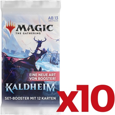Booster Magic the Gathering Kaldheim - Booster d'extension en ALLEMAND - Lot de 10