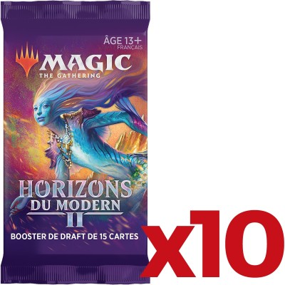 Booster Magic the Gathering Horizons du Modern 2 - Booster de draft - Lot de 10