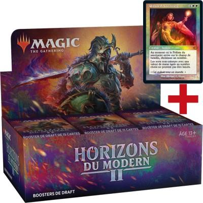 Boite de Boosters Magic the Gathering Horizons du Modern 2 - 36 Boosters de Draft + Carte Buy a Box