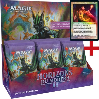 Boite de Boosters Magic the Gathering Horizons du Modern 2  - 30 Boosters d'Extension + Carte Buy a Box