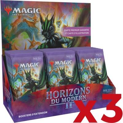 Boite de Boosters Magic the Gathering Horizons du Modern 2 - 30 Boosters d'Extension - Lot de 3