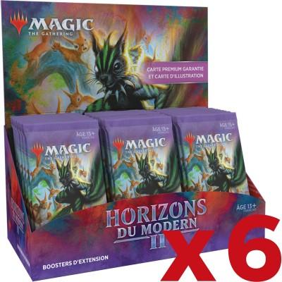Boite de Boosters Magic the Gathering Horizons du Modern 2 - 30 Boosters d'Extension - Lot de 6