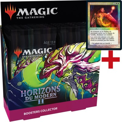 Boite de Boosters Magic the Gathering Horizons du Modern 2 - 12 Boosters Collector + Carte Buy a Box