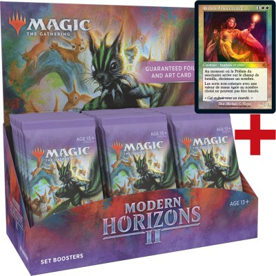 Boite de Boosters Magic the Gathering Modern Horizons 2 - 30 Set Boosters + Carte Buy a Box