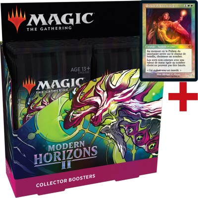 Boite de Boosters Magic the Gathering Modern Horizons 2 - 12 Collector Boosters + Carte Buy a Box