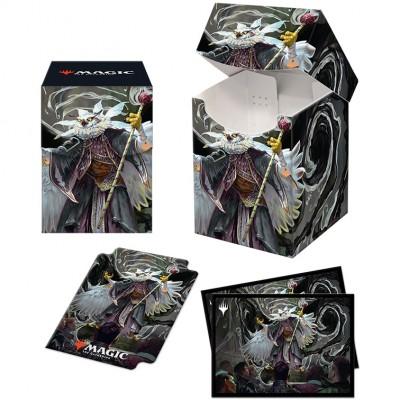 Boite de rangement illustrée Magic the Gathering Pack Strixhaven - Deck Box 100+ avec Sleeves - Breena, la démagogue