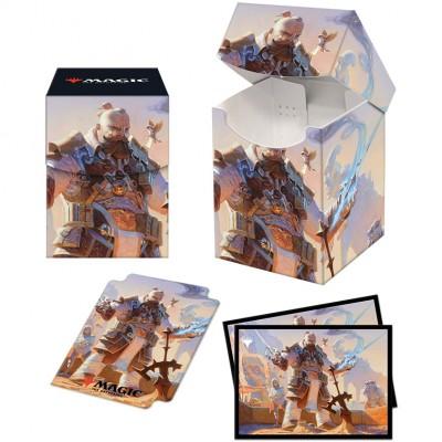 Boite de rangement illustrée Magic the Gathering Pack Strixhaven - Deck Box 100+ avec Sleeves - Osgir, le reconstructeur