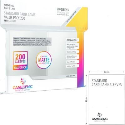 Protèges Cartes  Pack 200 - Standard Sleeves - MATTE