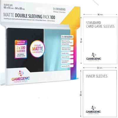 Protèges Cartes  Pack 100 - Double Sleeving - MATTE