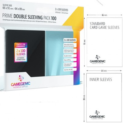 Protèges Cartes  Pack 100 - Double Sleeving - PRIME