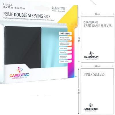 Protèges Cartes Pack 80 - Double Sleeving - PRIME