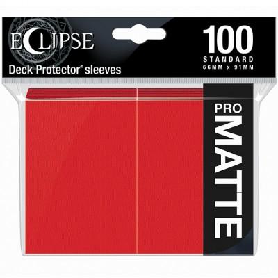 Protèges Cartes 100 pochettes - ECLIPSE Matte - ROUGE