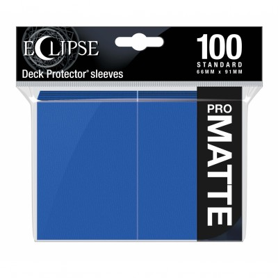 Protèges Cartes  100 pochettes - ECLIPSE Matte - BLEU