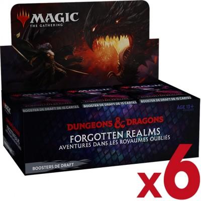 Boite de Boosters Magic the Gathering Forgotten Realms : Aventures dans les Royaumes Oubliés - 36 Boosters de draft - Lot de 6