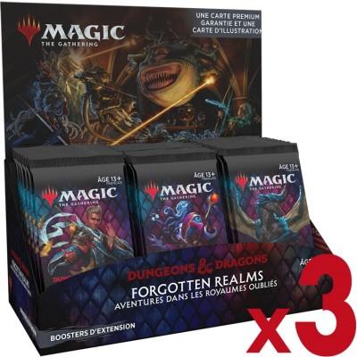 Boite de Boosters Magic the Gathering Forgotten Realms : Aventures dans les Royaumes Oubliés - 30 Boosters d'Extension - Lot de 3