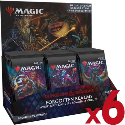 Boite de Boosters Magic the Gathering Forgotten Realms : Aventures dans les Royaumes Oubliés - 30 Boosters d'Extension - Lot de 6