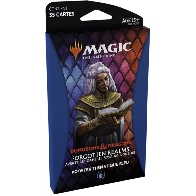 Booster Magic the Gathering Forgotten Realms : Aventures dans les Royaumes Oubliés - Booster Thématique - BLEU