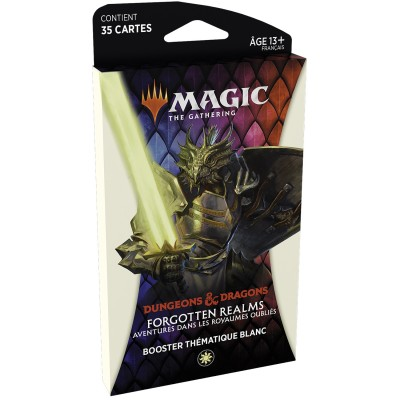 Booster Magic the Gathering Forgotten Realms : Aventures dans les Royaumes Oubliés - Booster Thématique - BLANC