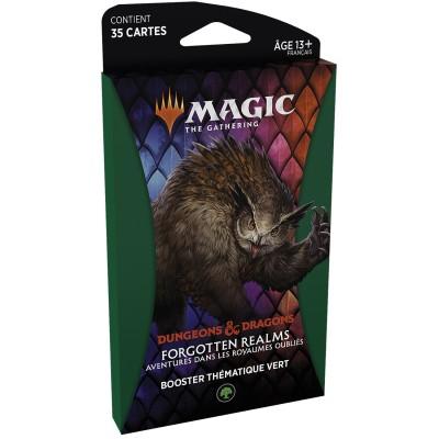 Booster Magic the Gathering Forgotten Realms : Aventures dans les Royaumes Oubliés - Booster Thématique - VERT