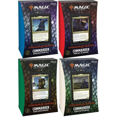 Deck Magic the Gathering Forgotten Realms : Aventures dans les Royaumes Oubliés - Commander - Lot de 4 différents