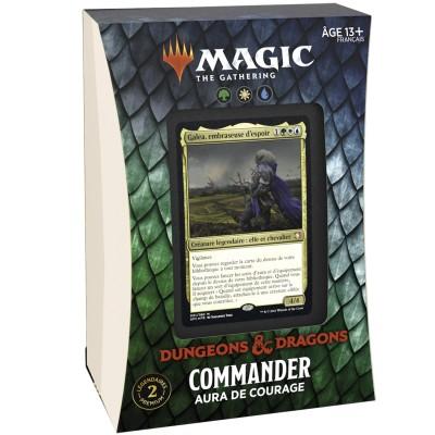 Deck Magic the Gathering Forgotten Realms : Aventures dans les Royaumes Oubliés - Commander - Aura de Courage