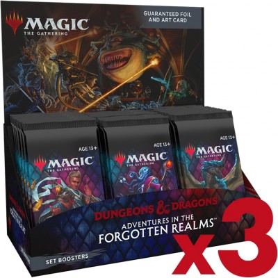 Boite de Boosters Magic the Gathering Adventures in the Forgotten Realms - 30 Boosters d'Extension - Lot de 3