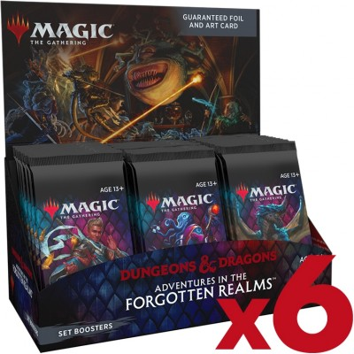 Boite de Boosters Magic the Gathering Adventures in the Forgotten Realms - 30 Boosters d'Extension - Lot de 6