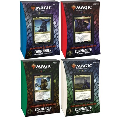 Deck Magic the Gathering Adventures in the Forgotten Realms - Commander - Lot de 4 différents