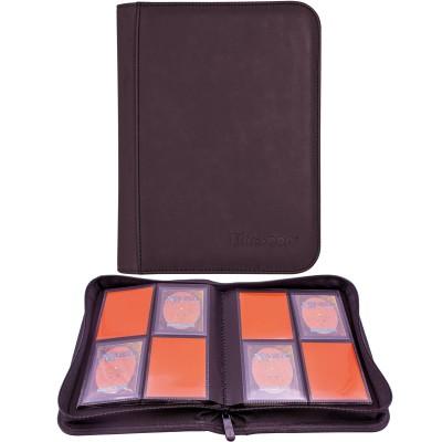 Portfolio Magic the Gathering A5 - Collection Premium - ZIPPERED SUEDE - 20 pages de 8 cases (160 cartes recto-verso) -  Améthyste