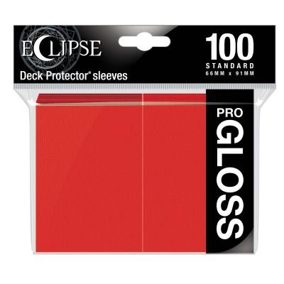 Protèges Cartes 100 pochettes - ECLIPSE Gloss - ROUGE