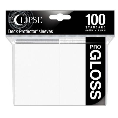 Protèges Cartes  100 pochettes - ECLIPSE Gloss - BLANC