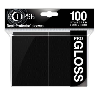 Protèges Cartes  100 pochettes - ECLIPSE Gloss - NOIR