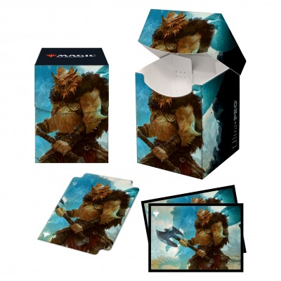 Boite de Rangement Magic the Gathering Pack Adventures in the Forgotten Realms - Deck Box 100+ avec Sleeves - Vrondiss, Rage of Ancients