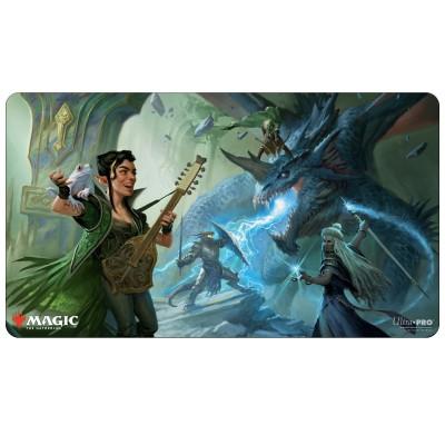 Tapis de Jeu Adventures in the Forgotten Realms - Playmat - The Party Fighting Blue Dragon - 60cm x 34cm