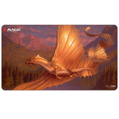 Tapis de Jeu Magic the Gathering Adventures in the Forgotten Realms - Playmat - Adult Gold Dragon - 60cm x 34cm