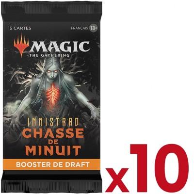 Booster Magic the Gathering Innistrad : chasse de minuit - Booster de draft - Lot de 10